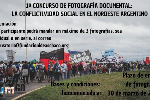 Presentamos el primer Concurso de Fotografía Documental Sobre Conflictos Sociales del NEA, tenés tiempo de enviar tu propuesta hasta el 20 de Marzo 2019